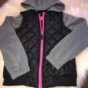 Pink Platium Girls Hooded Jacket Size 10/12